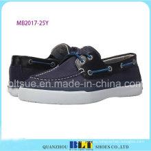 Zapatos de barco de lona de negocios de hombres