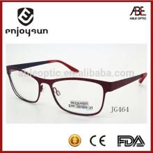 Gafas ópticas del metal del marco lleno del estilo de la manera de la alta calidad para la mujer