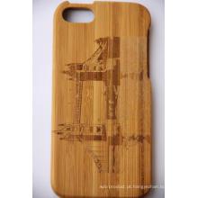 Virar madeira de madeira capa dura de volta caso para iphone bambu madeira angra