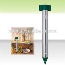 alimentado por batería sónico al azar mole chaser mole repeller para roedores al aire libre repelente