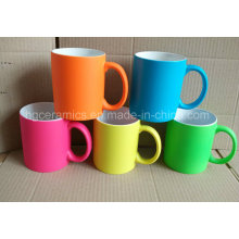 Gummifarbe-Keramik-Becher, Gummifarbe-Neonfarbbecher