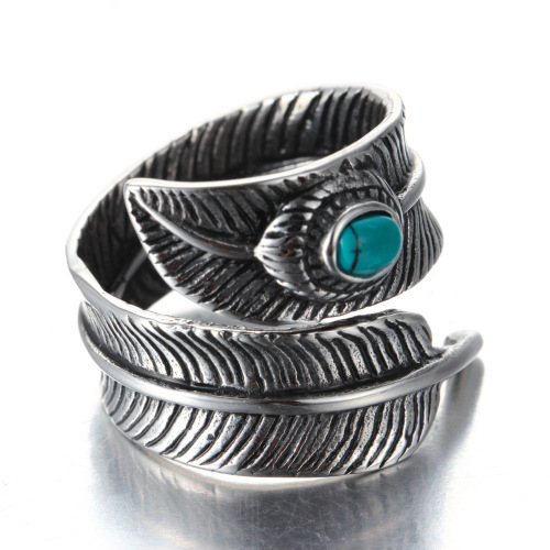 Retro feather ring