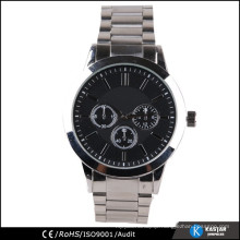 high quality japan movt. watch luxury stainless steel band watch