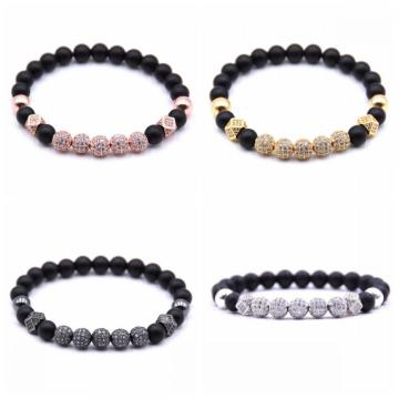 8mm Essential Oil Beads Bracelet Matte Onyx Bracelet Perfume Diffuser Bracelet for Men Women