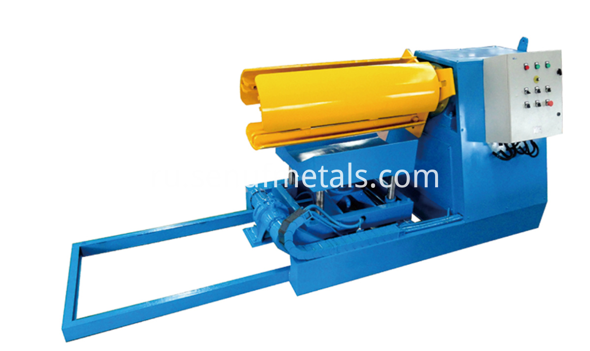 6 tons hydraulic decoiler with trolley