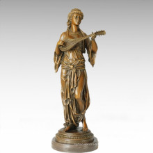 Dancer Figure Statue Gypsy Girl Bronze Sculpture TPE-288
