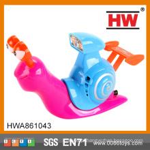 Engraçado bebê brinquedos 19CM puxar linha brinquedo de caracol plástico com luz