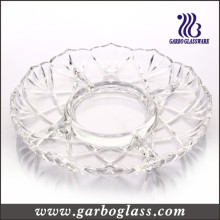 Simple Design Glass Round Plate
