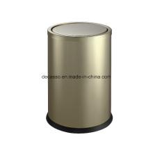 Imitação de espelho de ouro / lata de lixo escovado acabamento (dk101)