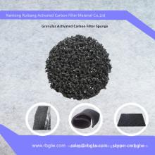 Air cleaning material fiber Granular Active Charcoal Foam Sponge