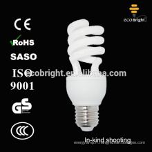 Bonne qualité! T3 15W spirale moitié cfl lampe 10000H CE qualité