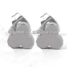 (WS3912)316L Stainless steel black plated Earring stud for Men