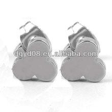 (WS3912) 316L aço inoxidável preto banhado brinco Stud para homens