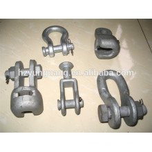 insulation strain clamp electric line hardware power pole line hardware fitting overhead transmission line accessories