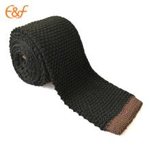 Cravate faite sur commande noire et brune de 2 pouces cravates d'hommes