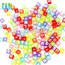 bright clear colored cube alphabet letter beads