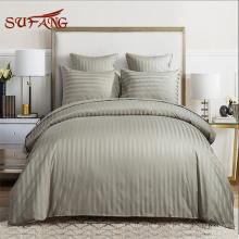 Oferta de hotel / gris 500TC algodón satinado pavo hecho hotel ropa de cama / ropa de cama conjunto de la cubierta