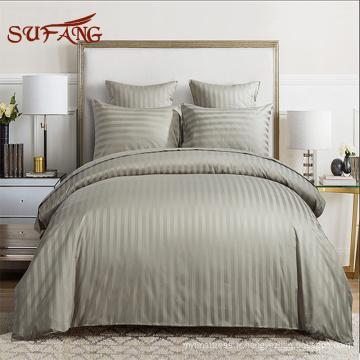 Approvisionnement d'hôtel / gris 500TC coton satin dinde fait hôtel linge de lit / ensemble de couverture de literie