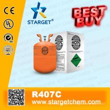 Refrigerante de alta pureza R407c melhor compra em embalagem neutra frasco de 11,3 kg