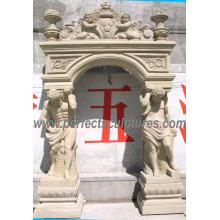 Arco de la puerta del granito de mármol de la piedra para la entrada del umbral de la puerta (DR035)