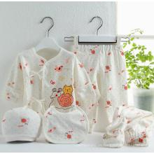 Ropa del bebé 5PCS del juego de la ropa interior del algodón del bebé