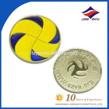 Заливка формы сплава цинка медали эмали футбол сувенирная монета