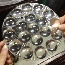 La iluminación plástica transparente llevó el moldeado de las lentes ópticas de la lente