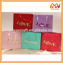 Sacos de embalagem de casamento saco de compras de papel de luxo atacado