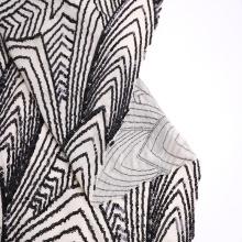 Bordado da lantejoula na malha de nylon do Spandex para o vestido