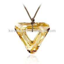Pendentif en cristal naturel brillant jaune