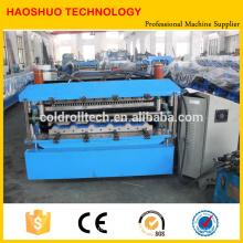 Máquina formadora de rollos de doble capa para techos y perfiles de azulejos