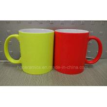 New Neon Farbe Keramik Becher, Neon Becher, fluoreszierende Becher