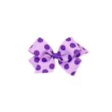 dot polyester ribbon bow clips hair accessory