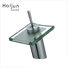 Haijun China New Products Single Handle Brass Water Sink Spout Bathroom Waterfall Faucet
