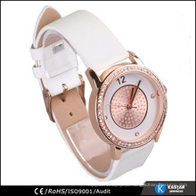 Relógio dourado rosa dourado, pulseira relógio feminino