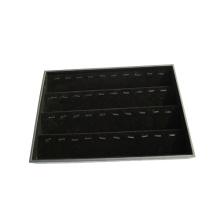 40 clips Black Flock joyería colgante bandeja de almacenamiento (TY-40P-BV)
