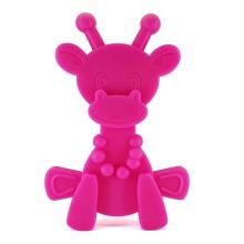 Natürliche Silikonkautschuk Giraffe Beißspielzeug Wunde Zahnfleisch