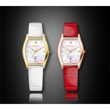 Cheap Square Diamond Leather Strap Quartz Ladies Montre bracelet