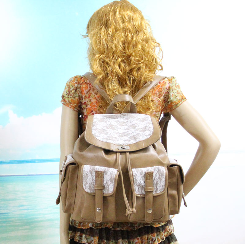 Vintage College Pu Lace Backpack