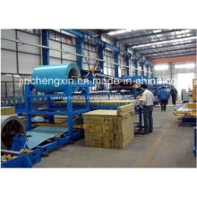 Línea de máquina de producción de paneles sándwich de lana mineral de Rockwool