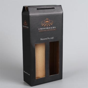 Embalagem de caixas de vinho personalizadas com cabo de corda
