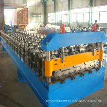Máquina formadora de rollo automático para techos de metal