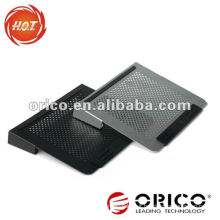 dual fans All aluminum 14inch laptop cooling pad, notebook pad