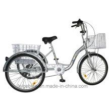 """Triciclo de carga con marco de aleación de aluminio Trike de 24 """"(FP-TRI-10)"""