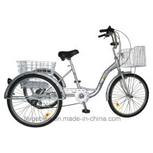 """24"""" Shopping Trike Aluminum Alloy Frame Cargo Tricycle (FP-TRI-10)"""
