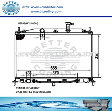 Radiator For Hyundai Accent 06-07 OEM:253101E150/253101E151
