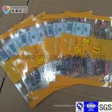 Sellado de 3 lados Embalaje de plástico de fideos frescos Bolsa laminada de BOPP