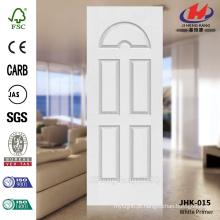 JHK-015 Five 5 Painel Modelo Design Best Sell EUA 3mm HDF moldado branco pele da porta de primer