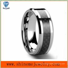 Shineme ювелирные изделия черный углеродного волокна вольфрама кольцо (TST2827)