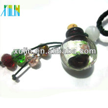 Forma redonda da jóia da forma Murano Glass Perfume Bottle Pendant